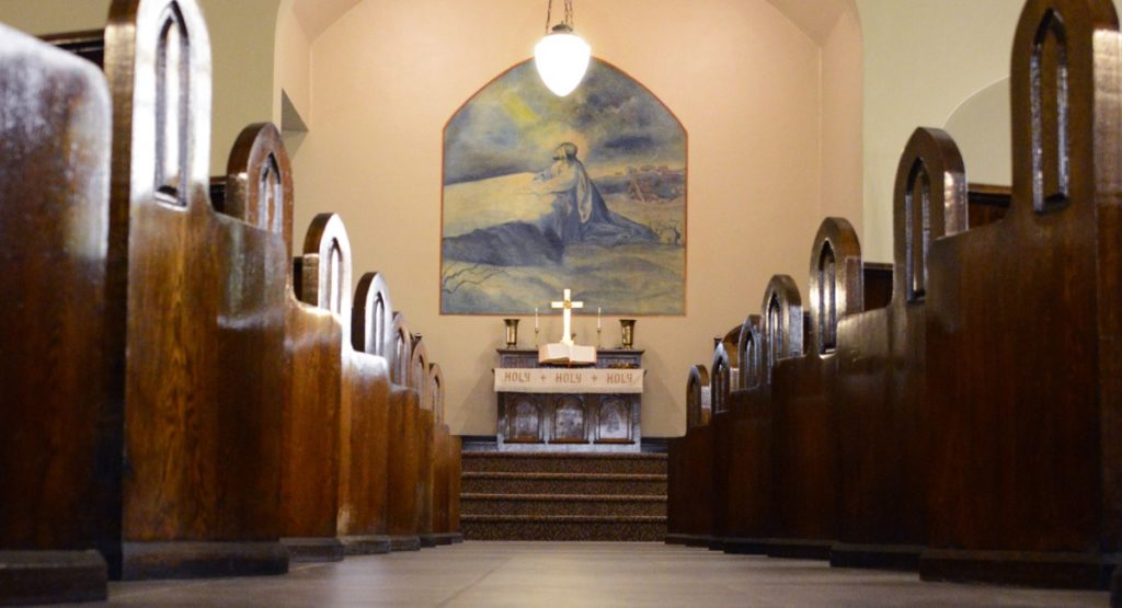 View of TriUnity Church pews and alter